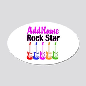 ROCK STAR 20x12 Oval Wall Decal