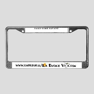 Part-Time Savant License Plate Frame