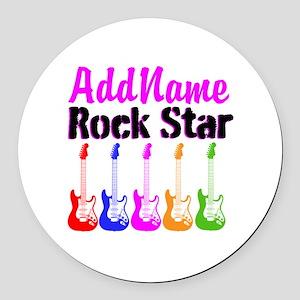 ROCK STAR Round Car Magnet