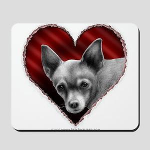 Chihuahua Valentine Mousepad