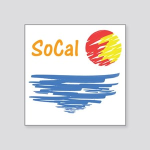 "socal Square Sticker 3"" x 3"""