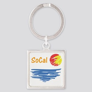 socal Square Keychain