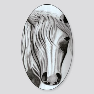 Whimsical Horse Sticker (Oval)