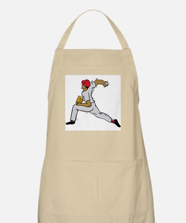 Pitcher Red Hat BBQ Apron