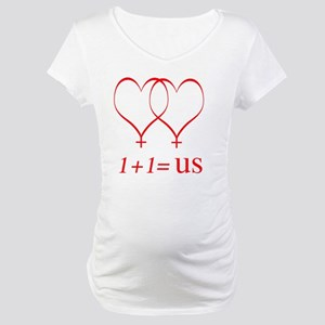 heartoneplusonelesbianbiguse Maternity T-Shirt