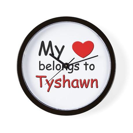 My heart belongs to tyshawn Wall Clock