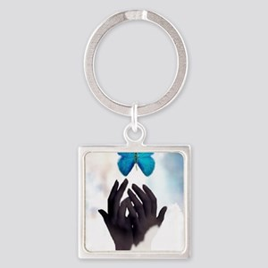 JUST LET GO Square Keychain