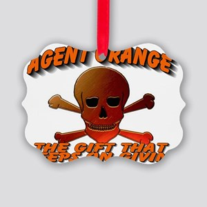 AGENTORANGE WITH SKULL Picture Ornament