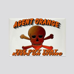 AGENTORANGE WITH SKULL Rectangle Magnet