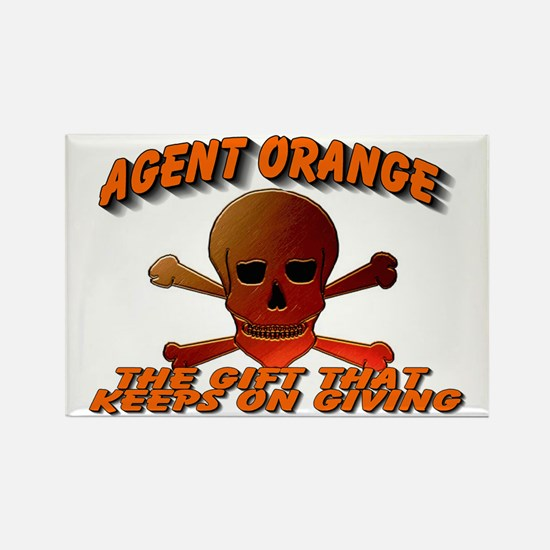 AGENTORANGE WITH SKULL.gif Rectangle Magnet