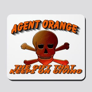 AGENTORANGE WITH SKULL Mousepad