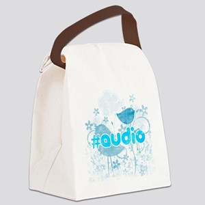 Audio-hash-tag-distressed Canvas Lunch Bag
