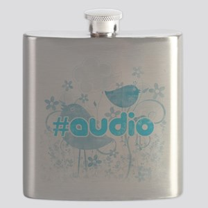 Audio-hash-tag-distressed Flask