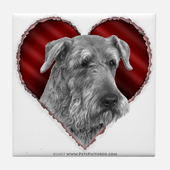 Airedale Valentine Tile Coaster