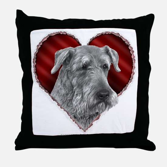 Airedale Valentine Throw Pillow