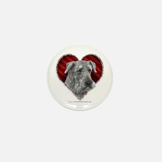 Airedale Valentine Mini Button
