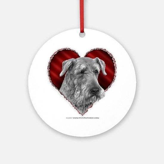 Airedale Valentine Ornament (Round)