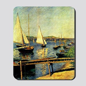 Caillebotte: Sailing Boats at Argenteuil Mousepad