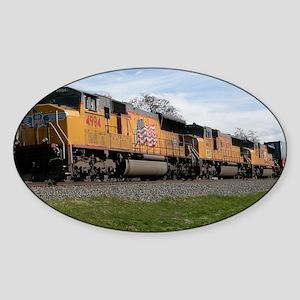 Morning Train Sticker (Oval)