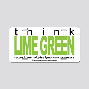 NH-Lymphoma-Think-LG Aluminum License Plate