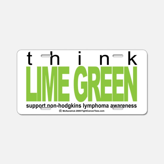 NH-Lymphoma-Think-LG Aluminum License Plate