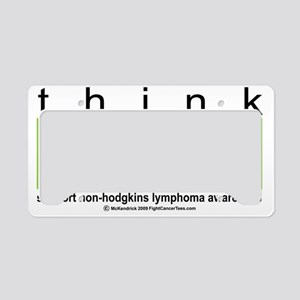 NH-Lymphoma-Think-LG License Plate Holder