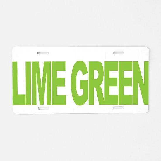 NH-Lymphoma-Think-LG-blk Aluminum License Plate