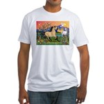 Fantasy Land Buckskin Horse Fitted T-Shirt