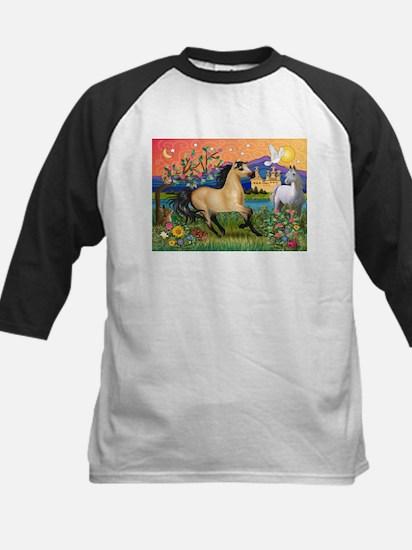 Fantasy Land Buckskin Horse Kids Baseball Jersey
