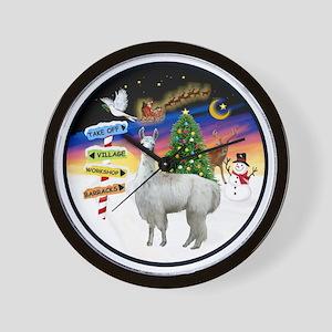 R-Xmas Signs - Llama 12 Wall Clock