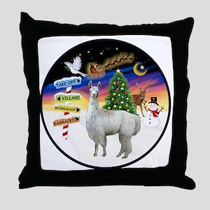 R-Xmas Signs - Llama 12 Throw Pillow