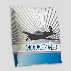 Aircraft Mooney M20 Burlap Throw Pillow