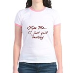 Kiss Me I Just Quit Smoking Jr. Ringer T-Shirt