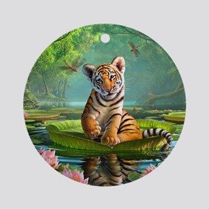 JL_Tiger Lily Ornament (Round)