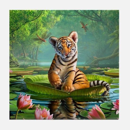 JL_Tiger Lily Tile Coaster