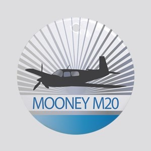 Aircraft Mooney M20 Ornament (Round)