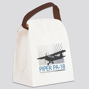 Aircraft Piper PA-18 Canvas Lunch Bag