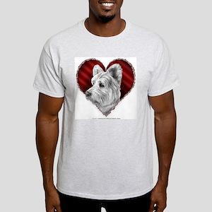 Westie Valentine Ash Grey T-Shirt
