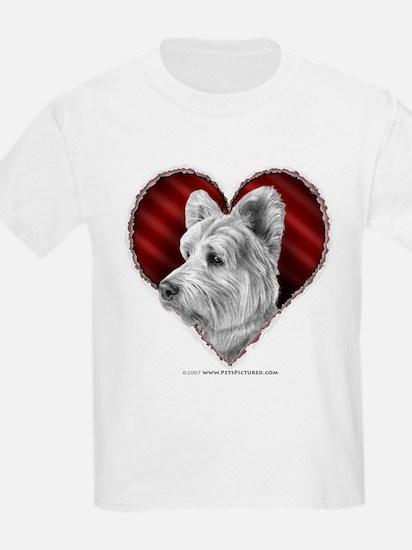 Westie Valentine Kids T-Shirt