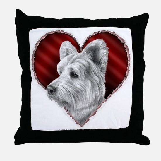 Westie Valentine Throw Pillow