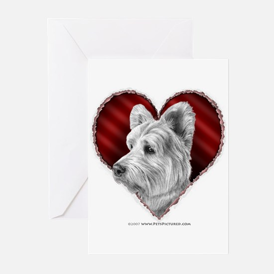 Westie Valentine Greeting Cards (Pk of 10)