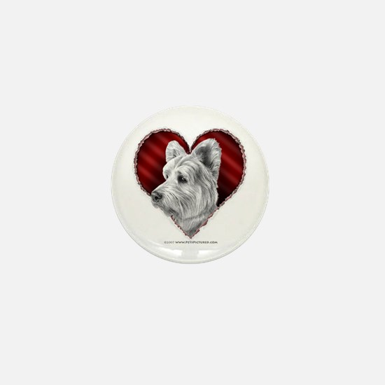 Westie Valentine Mini Button