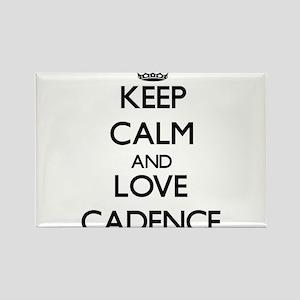 Keep Calm and Love Cadence Magnets