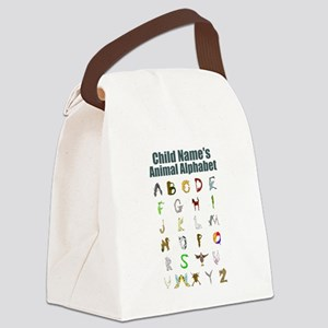 Personalized Animal Alphabet Canvas Lunch Bag