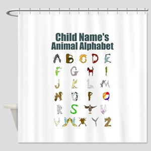 Personalized Animal Alphabet Shower Curtain