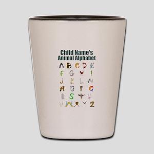 Personalized Animal Alphabet Shot Glass