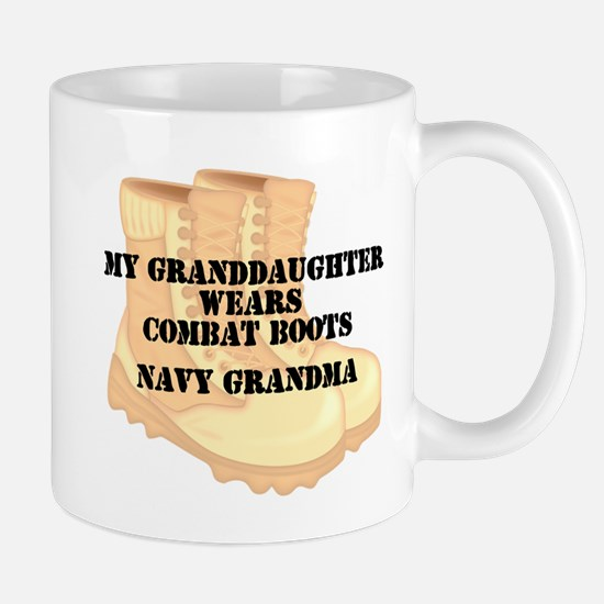 Navy Grandma Granddaughter Desert Combat Boots Mug