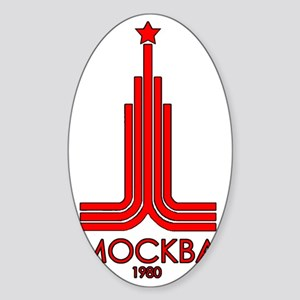 Moscow Olympics Sticker (Oval)