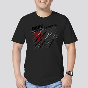 here, have some libert Men's Fitted T-Shirt (dark)