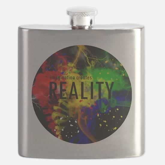 Imagination Creates Reality Flask
